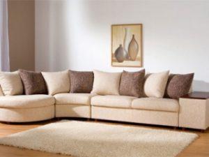 Перетяжка углового дивана на дому в Люберцах